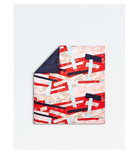 KENZO Broken Cotton Sateen Double Duvet Cover (Multi
