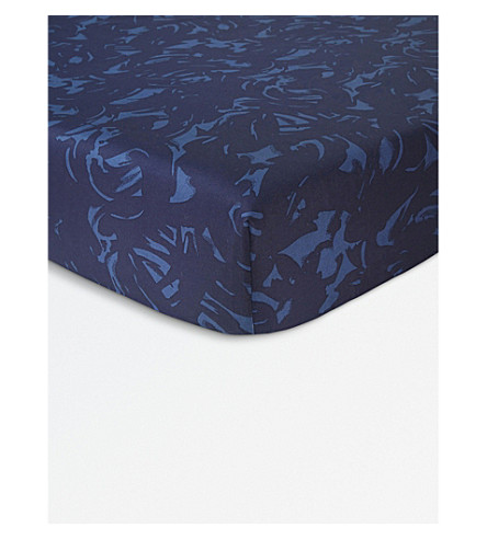 KENZO Broken Double cotton fitted sheet (Multi