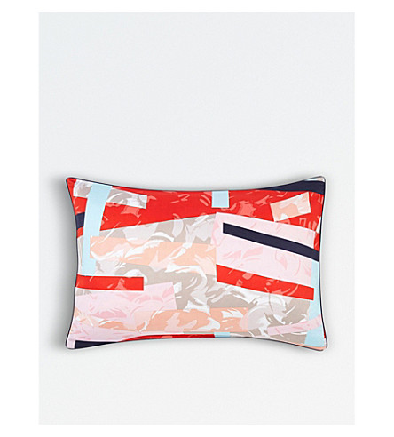 KENZO Broken cotton sateen pillow case (Multi