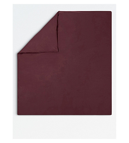 KENZO Iconic egyptian cotton duvet cover (Bordeau