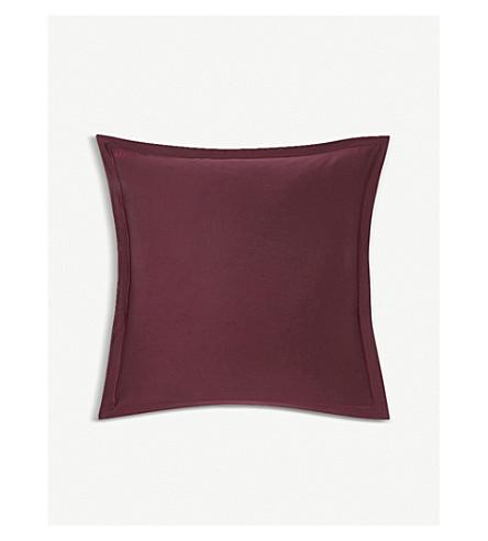 KENZO Iconic sateen cotton square pillowcase (Bordeau