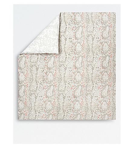 KENZO Snake Cotton Sateen Double Duvet Cover (Multi