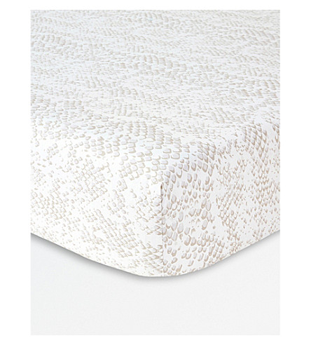KENZO Snake Double cotton fitted sheet (Multi