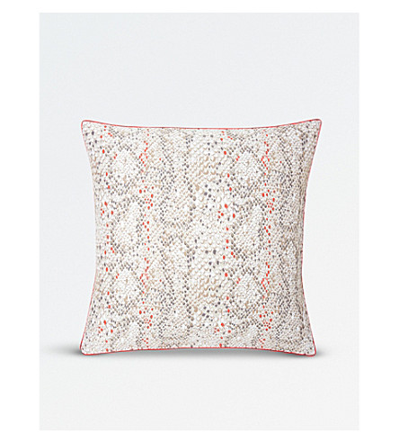 KENZO Snake cotton sateen square pillow case (Multi