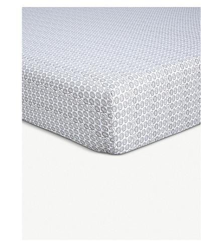 BOSS Clyde printed cotton king fitted sheet (Multi