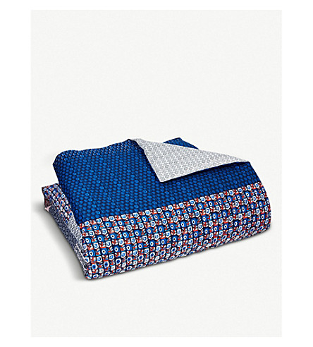 BOSS Clyde cotton double duvet cover (Multi
