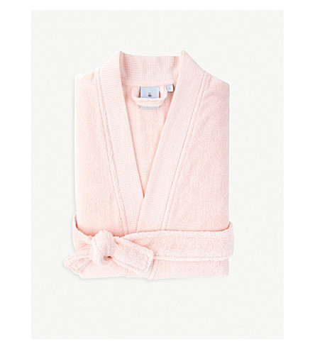 YVES DELORME Étoile cotton-blend bathrobe (Blush