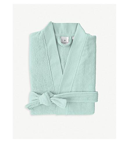 YVES DELORME Étoile cotton-blend bathrobe (Celadon