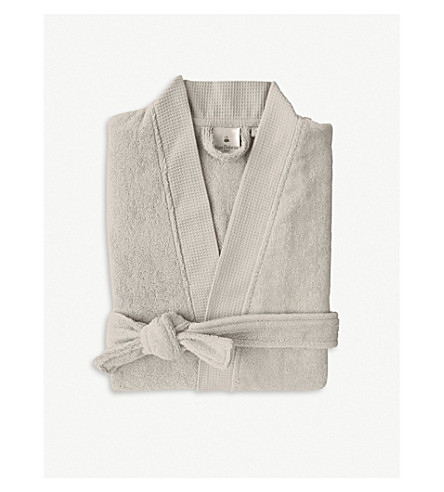 YVES DELORME Pierre cotton-blend robe (Pierre