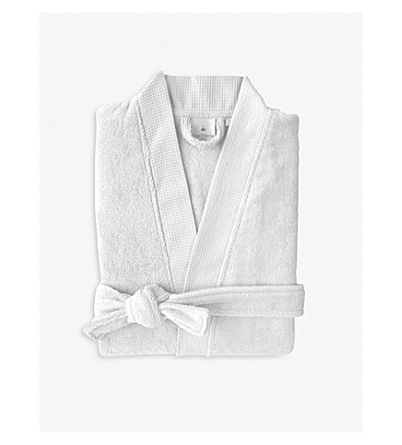 YVES DELORME Silver cotton-blend bathrobe (Silver