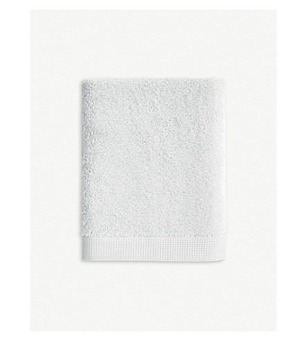 YVES DELORME Étoile cotton face cloth 33cm x 33cm (Silver