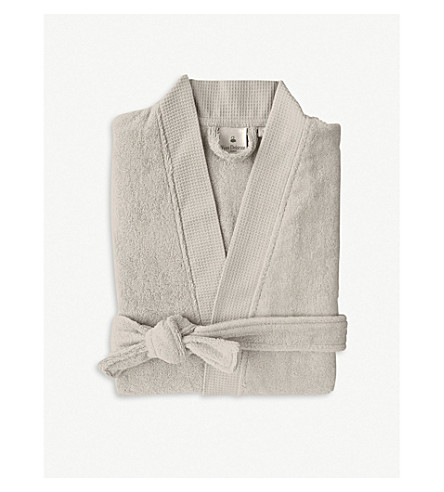 YVES DELORME Astreena cotton-blend bathrobe (Pierre
