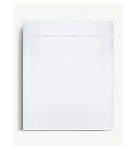 YVES DELORME Athena Aqua cotton double flat sheet 295x240cm (Aqua
