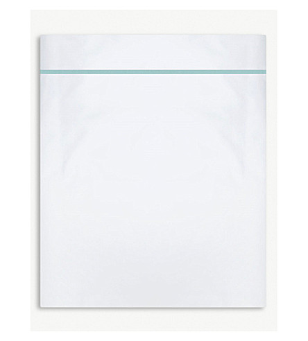 YVES DELORME Athena flat single sheet 100 X 200cm (Celadon