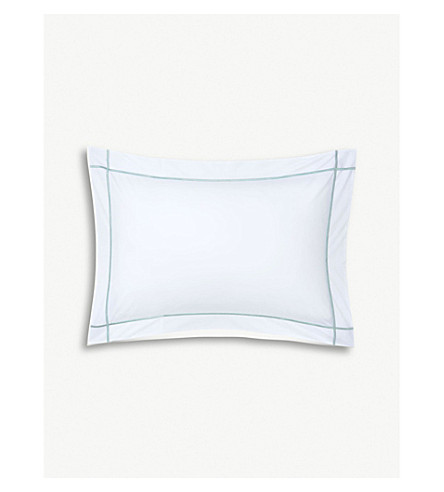 YVES DELORME Athena cotton pillowcase (Celadon