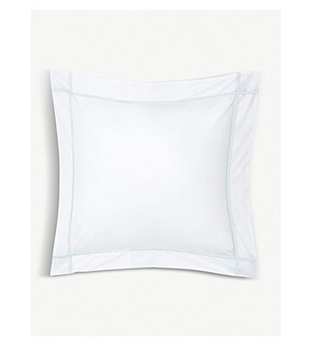 YVES DELORME Athena Aqua cotton pillowcase 65x65cm (Aqua