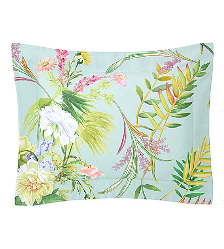 YVES DELORME Bouquets boudoir pillow case (Multi