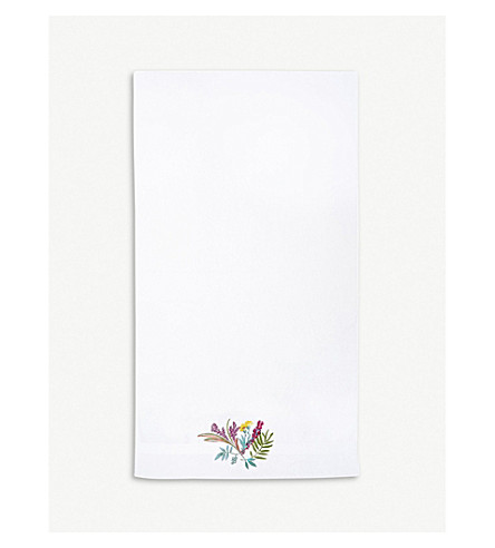 YVES DELORME Bouquets cotton blend bath towel 70 x 140 cm (Multi