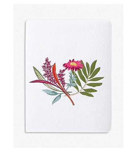YVES DELORME Bouquets cotton blend hand towel 55 x 100 cm (Multi