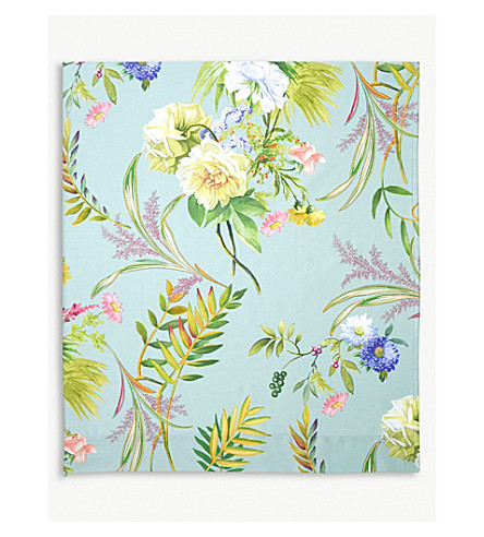 YVES DELORME Bouquets single cotton flat sheet (Multi