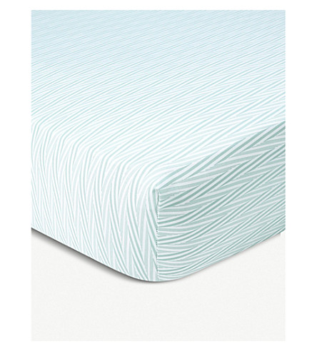 YVES DELORME Bouquets Egyptian cotton-sateen single fitted sheet (Multi