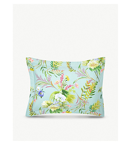 YVES DELORME Bouquets standard cotton pillow case (Multi