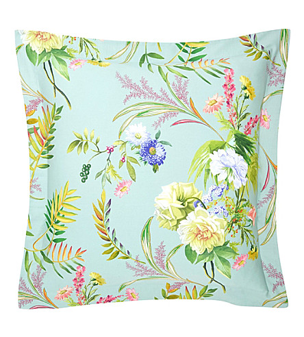 YVES DELORME Bouquets square cotton pillow case (Multi
