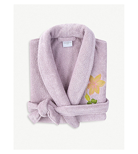 YVES DELORME Clematis cotton-blend robe (Nuage