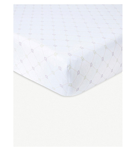 YVES DELORME Clematis floral-print cotton single fitted sheet (Multi