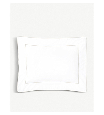 YVES DELORME Flandre cotton pillowcase 21cm x 32cm (Nacre