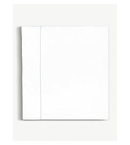 YVES DELORME Flandre Aqua cotton double duvet cover 200x200cm (Aqua