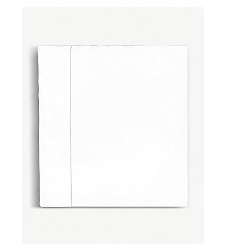 YVES DELORME Flandre Aqua cotton king duvet cover 240x220cm (Aqua