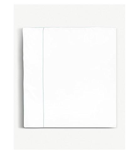 YVES DELORME Flandre Aqua cotton single duvet cover 200x140cm (Aqua
