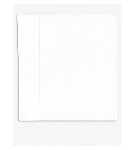YVES DELORME Flandre Blanc cotton super king duvet cover 260x220cm (Blanc