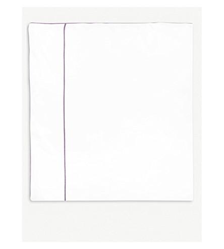 YVES DELORME Flandre Bruyere cotton king duvet cover 240x220cm (Bruyere