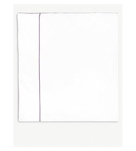 YVES DELORME Flandre Bruyere cotton single duvet cover 200x140cm (Bruyere
