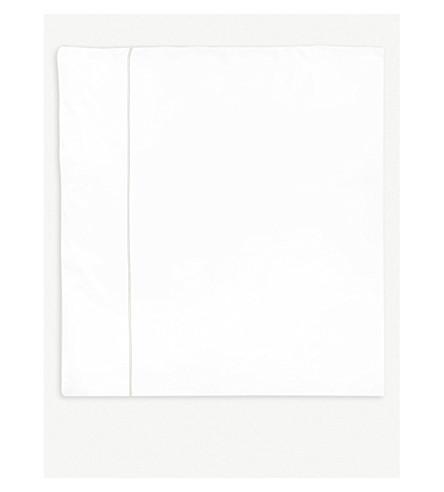 YVES DELORME Flandre Nacre cotton single duvet cover 200x140cm (Nacre