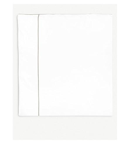 YVES DELORME Flandre Pierre cotton king duvet cover 240x220cm (Pierre