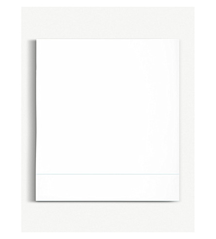 YVES DELORME Flandre Aqua cotton double flat sheet 240x295cm (Aqua