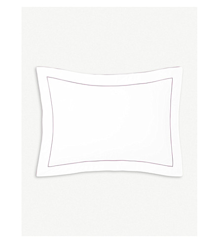 YVES DELORME Flandre pillowcase 50x75cm (Bruyere