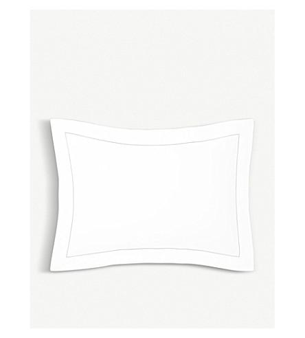YVES DELORME Flandre piped-trim cotton percale oxford pillowcase 75cm x 50cm (Nuage