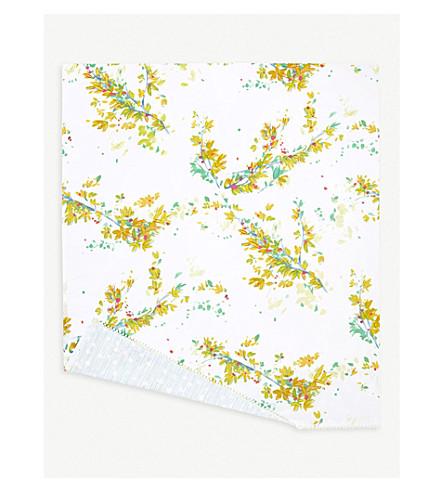YVES DELORME Lucine Egyptian cotton super king flat sheet (Multi