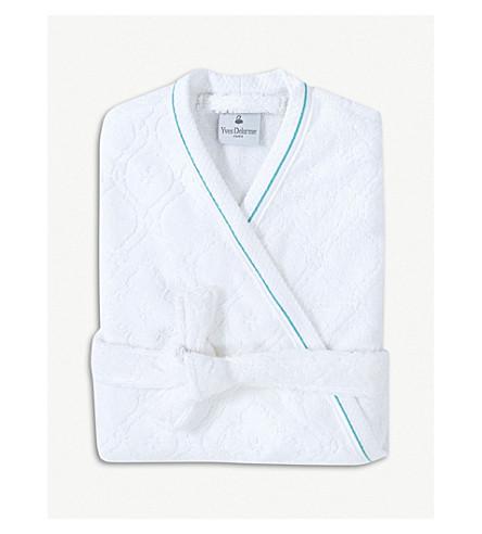 YVES DELORME Maiolica medium cotton percale bath robe (Multi