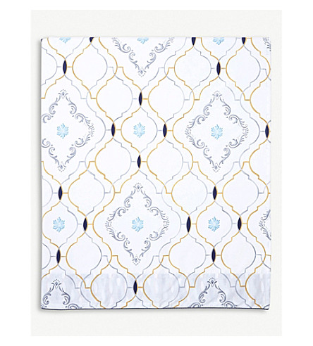 YVES DELORME Maiolica Egyptian cotton single flat sheet (Multi