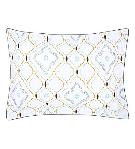YVES DELORME Maiolica Egyptian cotton standard pillowcase (Multi