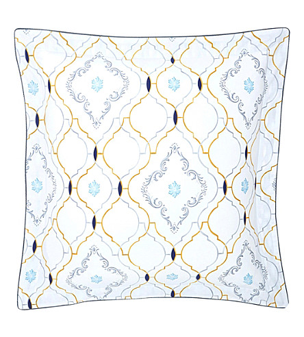 YVES DELORME Maiolica Egyptian cotton square pillowcase 65x65cm (Multi