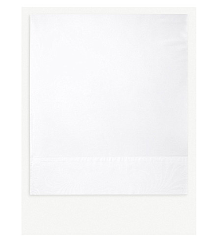 YVES DELORME Nymphe cotton and linen-blend flat sheet (White