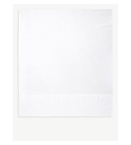 YVES DELORME Nymphe white super king flat sheet (White