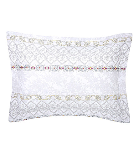 YVES DELORME Palatin Egyptian cotton pillow case (Nacre