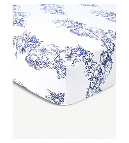 YVES DELORME Paysage fitted single sheet 90x190cm (Multi